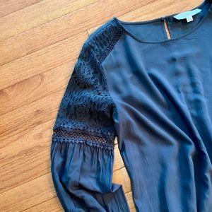 LOFT lace sleeve blouse
